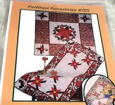PINWHEEL POINSETTIAS Christmas Quilt Pattern TABLE RUNNER TOPPER or WALL