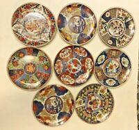 """IMARI WARE Japan Patterns Porcelain 8 Plates  6 1/4"""" FREE SHIPPING"""