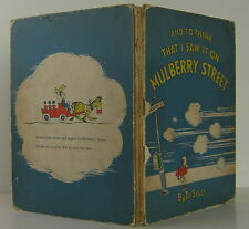 DR. SEUSS And to Think that I Saw it on Mulberry Street FIRST EDITION
