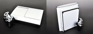 White Carbon Fiber Skin Sticker for PS3 Super Slim and 2 controller skins