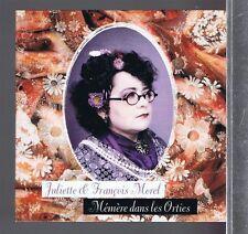 CD SINGLE PROMO 1 TITRE JULIETTE & FRANCOIS MOREL MEMERE DANS LES ORTIES