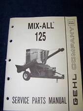 Gehl mix-all 125 MX mixer service  manual