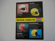 advertising Pubblicità 1975 CASCO BOERI SPORT MOD. ELITE/INDY/BOSS/NEW IMOLA