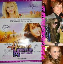 Hannah Montana Movie Cast SIGNED Poster Miley Cyrus +5
