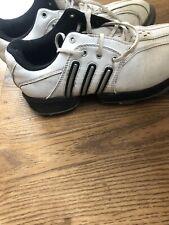 Adidas Juinior Golf Shoe White Leather Size 3 1/2
