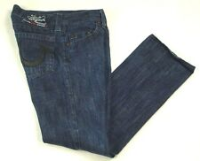 True Religion Denim Jeans Section Bobby Leather Applique Actual  W 32 L 33 EUC