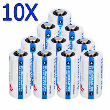 10Pack Cr123A 1800mAh 3.7V Single Use Batteries Lithium Battery For Flashlight