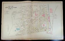 Large Hand Colored Maps PROSPECT HILL CONCORD NH Map NEW LONDON SCYTHEVILLE 1892