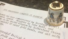 The Conquest Of Everest 30th Anniversary Thimble By Sutherland And Certificate