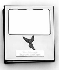 More details for parrot kr design silver personalised photo album free engraving 100 photos 261