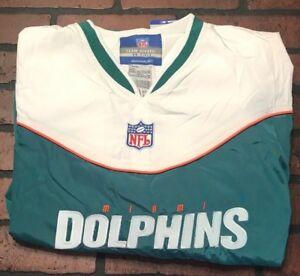 NFL Miami Dolphins Reebok Team Apparel Pullover V-neck Jacket