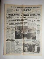 N825 La Une Du Journal Le Figaro 23 août 1968 Prague occupé