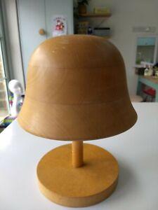 Wooden millinery cloche Hat Block
