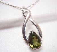 Peridot Infinity 925 Sterling Silver Pendant Corona Sun Jewelry