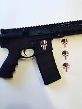 3X  Punisher Skull Flag Vinyl Decal Sticker AR15 AK47 M4 Airsoft NRA Car Truck