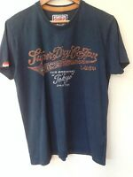 "Superdry navy T shirt size Medium (up to 42"" chest)"