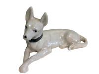 Vintage Great Dane Dog Porcelain Figurine White Pearlescent