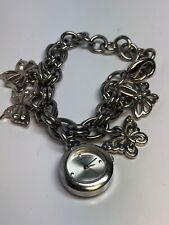 Guess Ladies Charm Bracelet Quartz Watch Stainless Steel