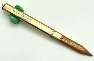 Antique Johann Faber Carpenter Pencil w/Gold Filled Overlay (#S82)