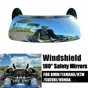 Motorcycle Rear view blind spot Mirror 180° Wide Angle For BMW Universal