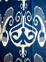 """China Seas """"Nomad"""" New Navy On White Cotton/Linen. Two Yards."""