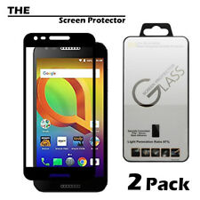 [2-Pack]Full Cover Tempered Glass Screen Protector For Alcatel A30 Fierce /Plus
