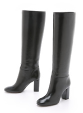 Tory Burch Devon 85mm Tall Knee High Boots 8 NIB Black Galleon Antique Leather