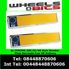 2X CHROME NUMBER PLATE HOLDER SURROUNDS FOR PEUGEOT 307 308 406 407 408 205 309