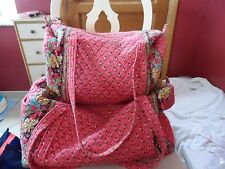 Vera bradley Large and small duffel bag Travel set in Pink Pansy pattern