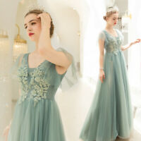 New Evening Formal Party Ball Gown Prom Bridesmaid Embroidery Bead Dress TS2996