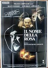 SEAN CONNERY NAME OF THE ROSE ORIGINAL VINTAGE ITALIAN OVERSIZE FILM POSTER