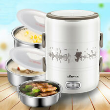 2L Electric Steamer 3 Layer Rice Egg Cooker Food Warmer Portable Lunch Box Pot