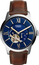 Fossil Townsman Automatic Blue Satin Dial Mens Watch ME3110