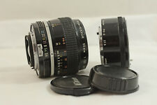NIKON NON-AI 55MM F3.5 MICRO NIKKOR WITH PK-3 CAMERA LENS FOR F F2 NIKKORMAT