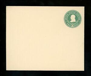 US Postal Stationery U379 Mint Envelope Entire 1c Green on White Franklin