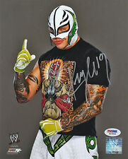 REY MYSTERIO SIGNED AUTO'D 8X10 PHOTO PSA/DNA COA WWE ECW WCW AAA LUCHA MASK D