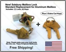Salsbury 2290 - Replacement Mailbox Lock with 4 keys For Aluminum Mailboxes
