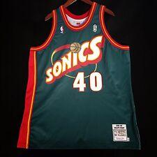 100% Authentic Shawn Kemp Mitchell & Ness Sonics Jersey Size 52 2XL