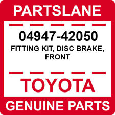04947-42050 Toyota OEM Genuine FITTING KIT, DISC BRAKE, FRONT