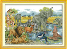 Joy Sunday Animal World Counted Cross Stitch Kit 14 Count 25in * 18in Embroidery