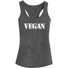 Womens Vegetarian Vegan Fitness Workout Racerback Tank Tops