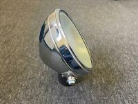 "8"" MILLER FLAT GLASS CHROME HEADLIGHT HEADLAMP BSA NORTON TRIUMPH VELOCETTE AJS"