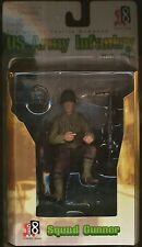 """2004 DRAGON MODELS ACTION 8 SQUAD GUNNER ARMY ITALY 1944 3 1/2"""" FIGURE"""