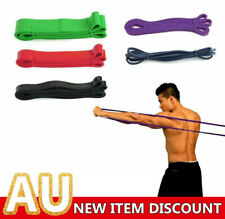 SET POWER Heavy Duty RESISTANCE BAND Gym Yoga LOOP Exercise Fitness Workout Band