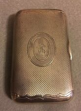 Antique RARE 1873 Imperial Russian Large Cigar Cigarette Case Silver 84 GORGEOUS