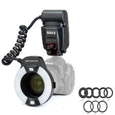Meike MK-14EXT LED Marco TTL Ring Flash Light AF Assist Lamp For Nikon D800,D700
