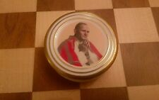 Coalport Trinket Dish lidded pot Pope John Paul II 1982 Visit to Britain RARE