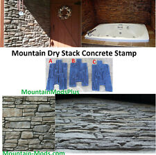 1 New Mountain Dry stack Stone vertical wall Concrete Cement Plaster Stamps Mats
