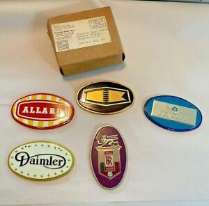5 Wheaties 1950's Car Emblems Bicycle Cereal Premiums General Mills