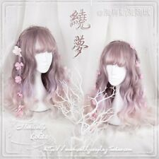 Girl Wigs Japan Elegant Loli Pink Gradient Harajuku Sweet Fairy Cosplay Wig Gift